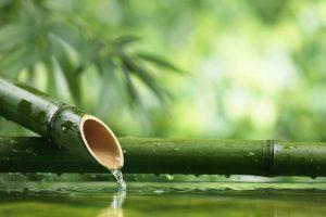 Traditional asian bamboo fountain